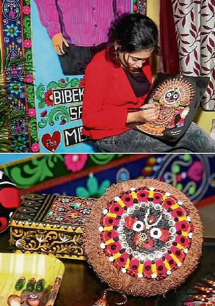 Jagannath rath yatra: Motor mechanic makes mini chariots with foodgrains