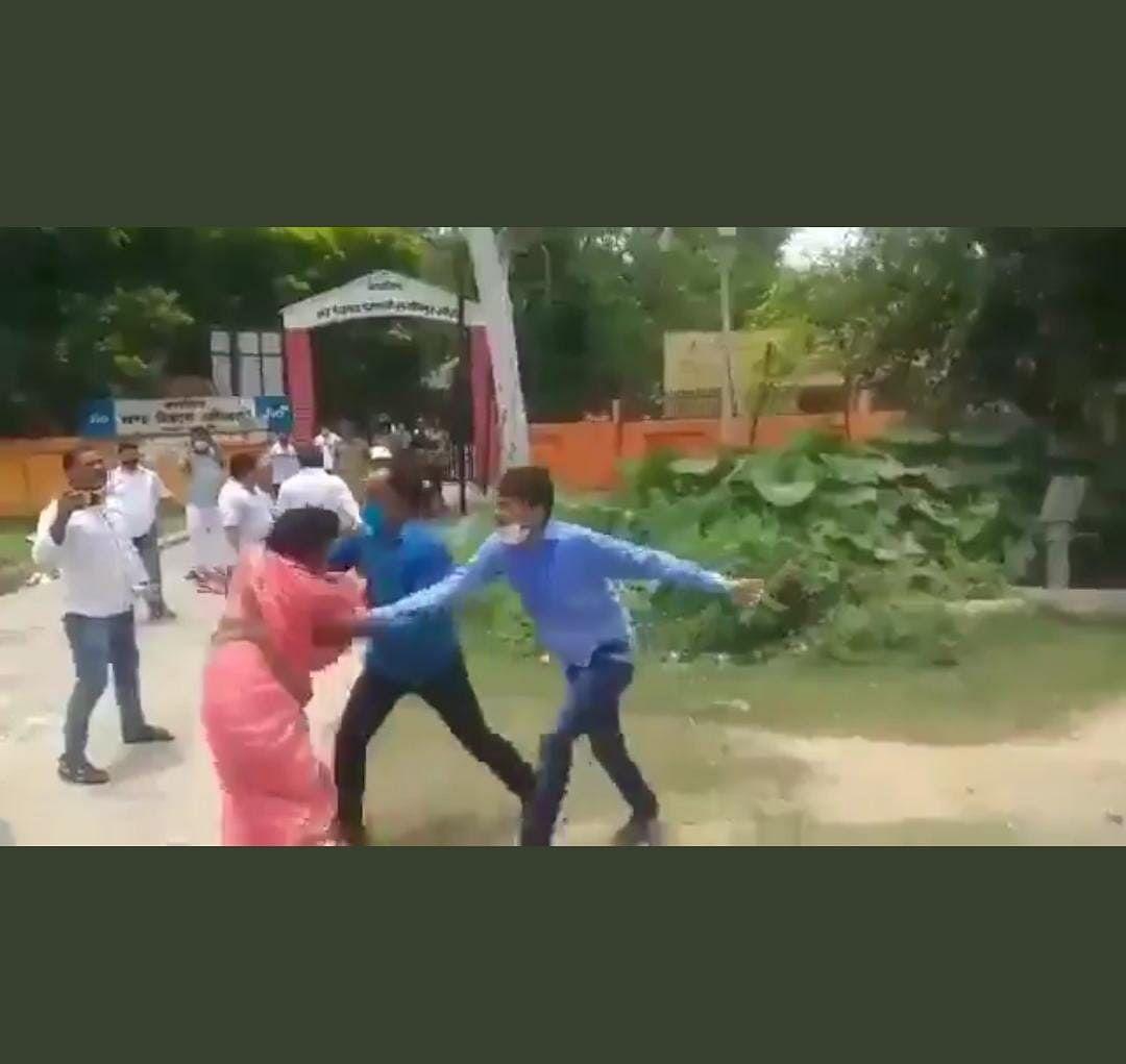 Uttar Pradesh: Rival party men pull woman's saree during nomination filing ahead of block polls