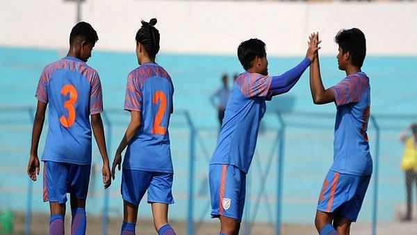 Women's football team players from India