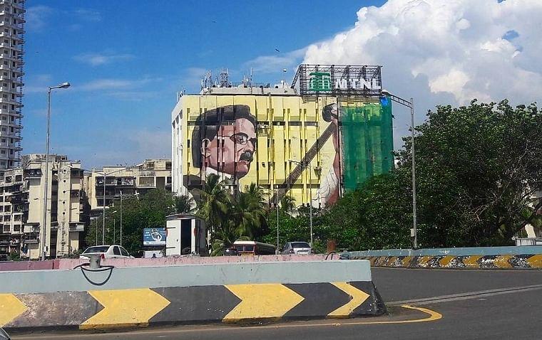 Dadasaheb Phalke's mural in Bandra