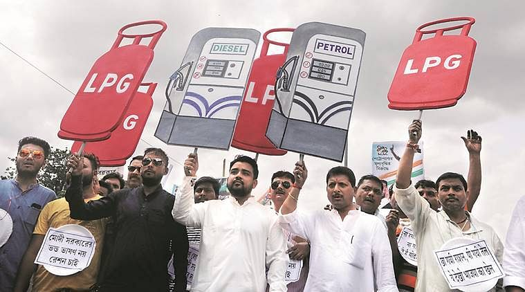 West Bengal: TMC protests against rising fuel prices, BJP hits back