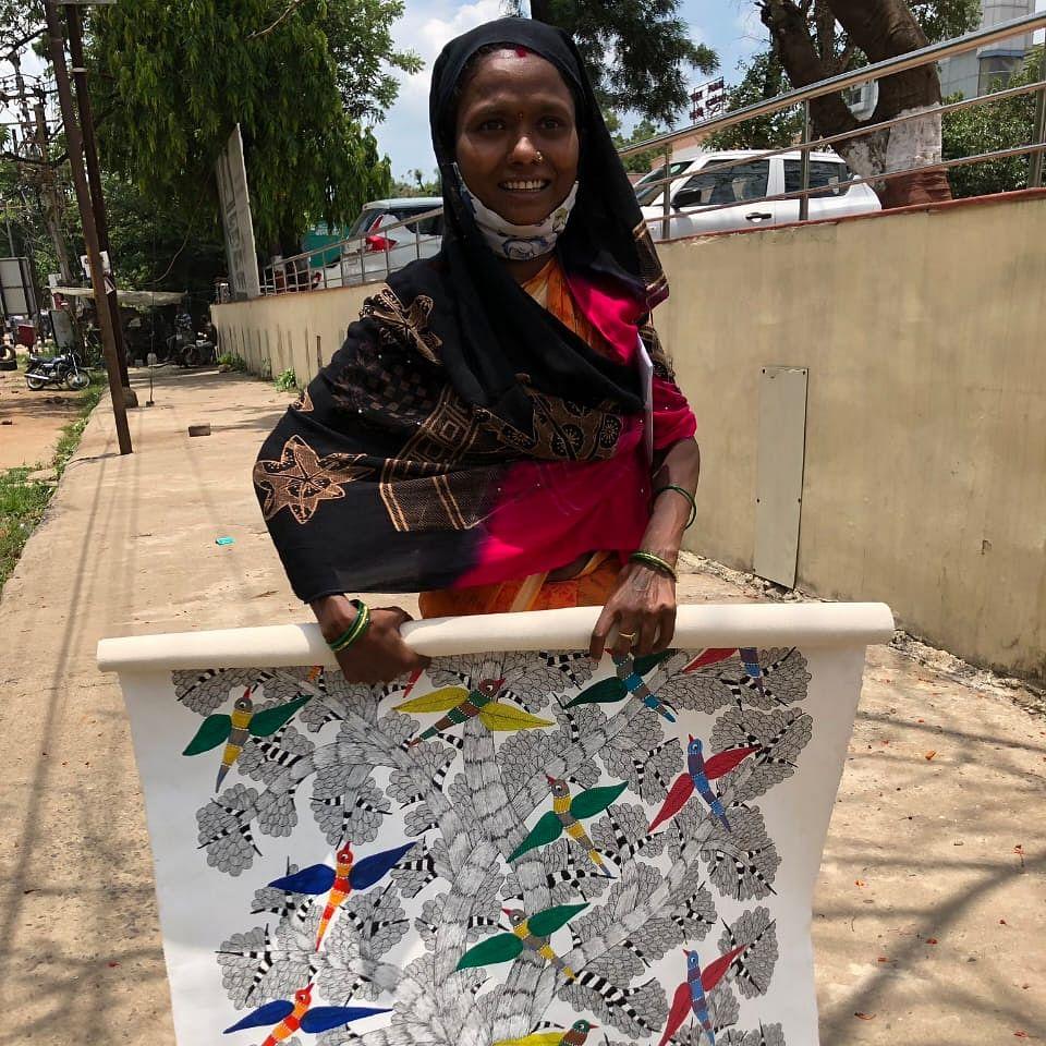 Lockdown pushed Gond artist Balmati Tekam to penury, then a ray of hope splits across the cloudy sky