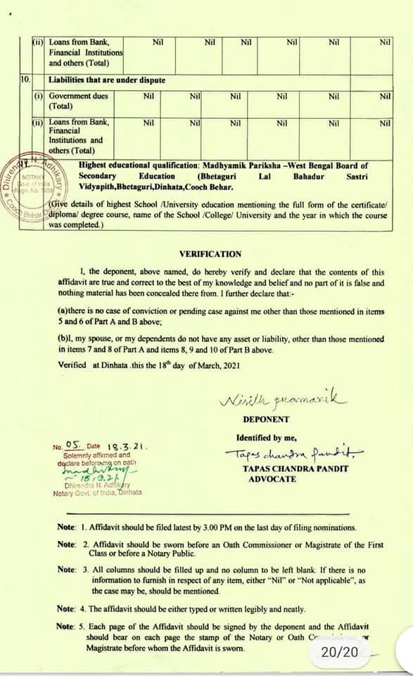 Amit Shah's deputy Nisith Pramanik's educational qualification triggers a row