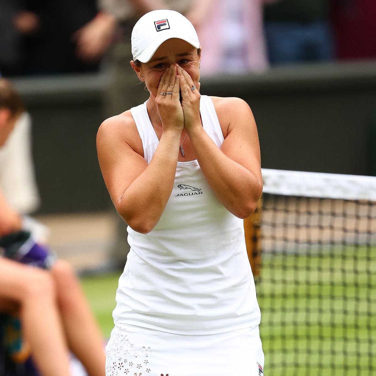 Wimbledon: Ashleigh Barty beats Karolina Pliskova to win maiden title [See Photos]