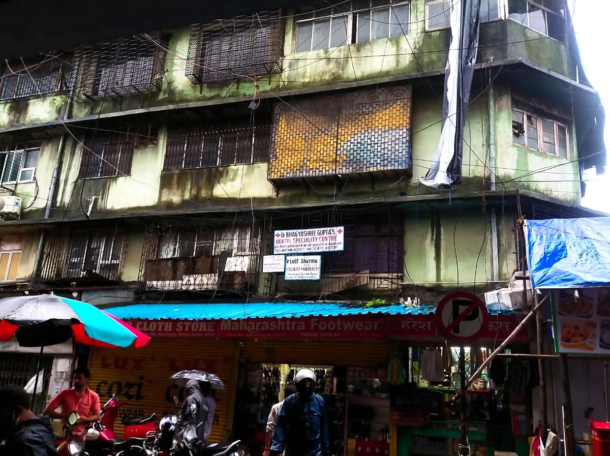 Buildings on the Brink: Rail View bldg on its last leg in bustling Chembur market poses great risk, tenants divided over redevelopment
