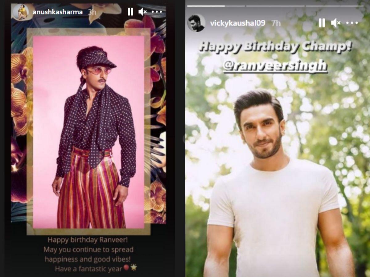 Anushka Sharma and Vicky Kaushal's Instagram stories
