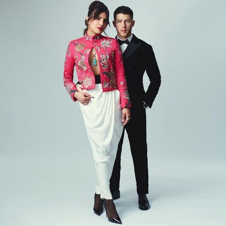 The breathtaking couple: Mr. and Mrs. Jonas