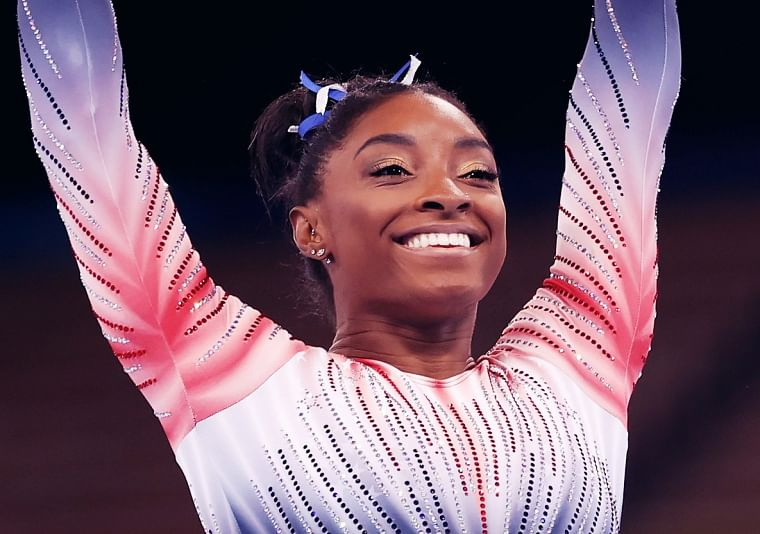 Tokyo Olympics 2020: US gymnast Simone Biles wins balance beam bronze in return