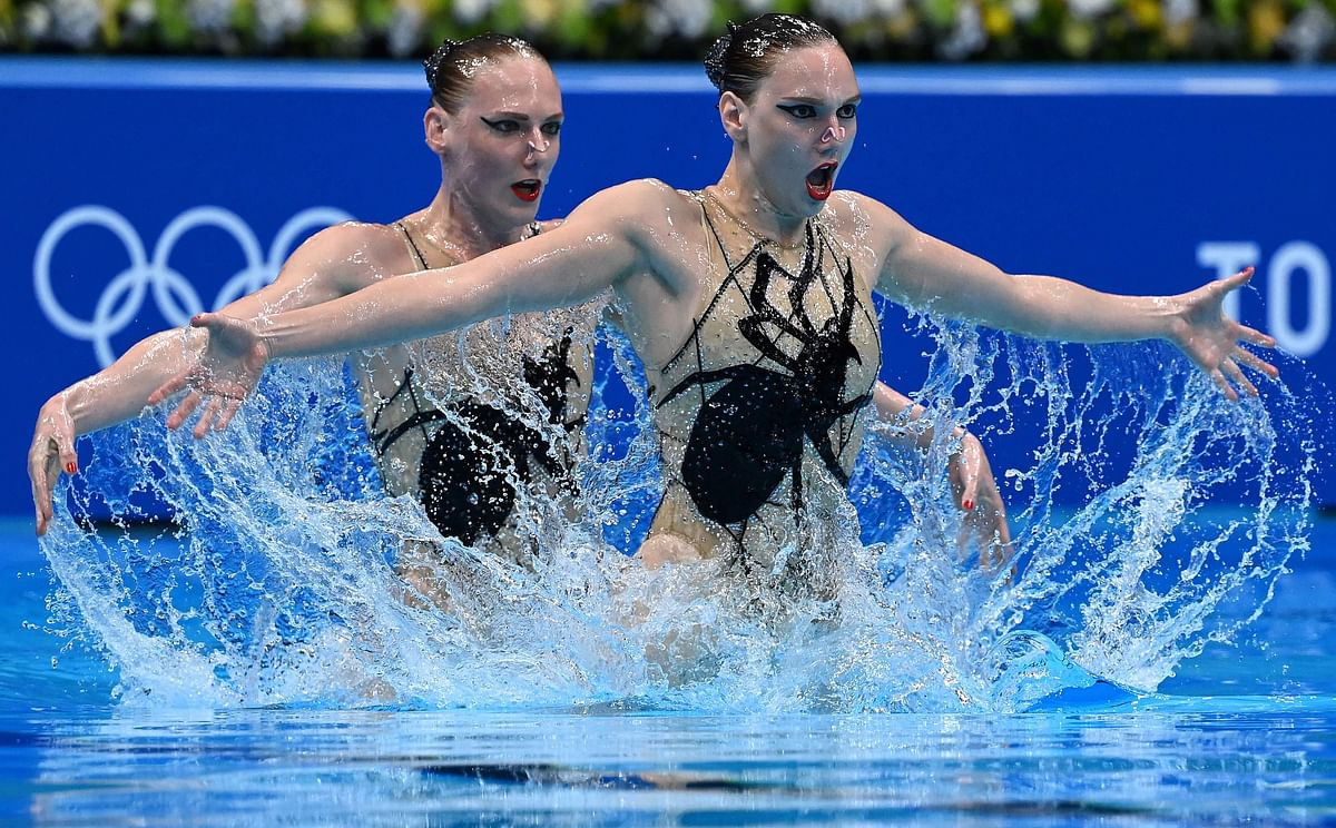 The Russian mermaids; Romashina claims her sixth gold, sets record with Kolesnichenko in artistic swimming