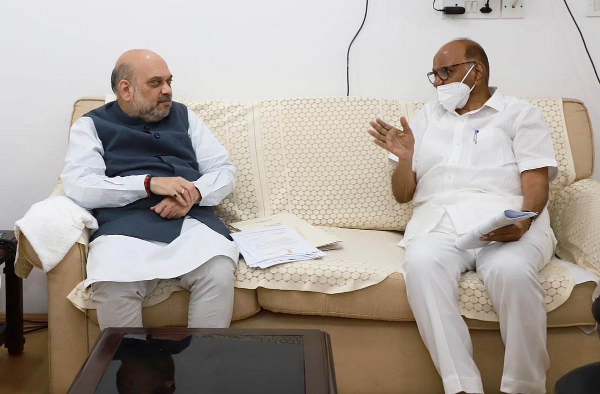 NCP chief Sharad Pawar meets Amit Shah, discusses issues faced by sugar co-operative sector