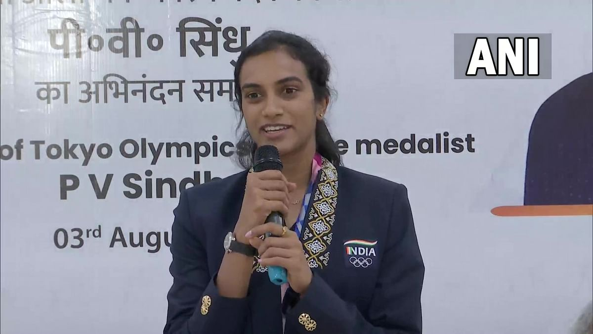 Olympic bronze medallist PV Sindhu felicitated by Union ministers in Delhi; see pics