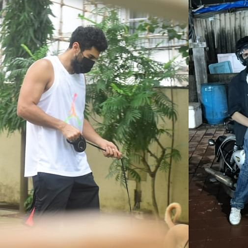 In Pics: Aditya Roy Kapur takes dog Luna out for walk, Kartik Aaryan kick starts 'Freddy'