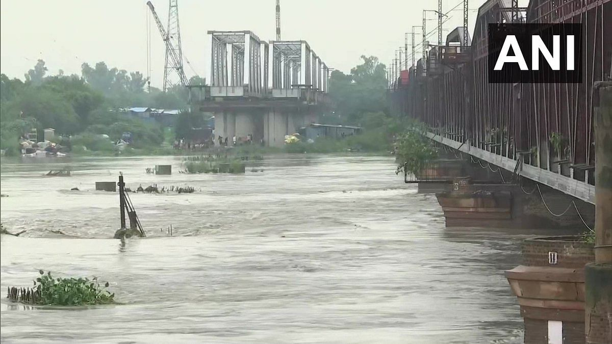 Delhi: Yamuna water level rises again; close to danger mark at Loha Pul - See photos
