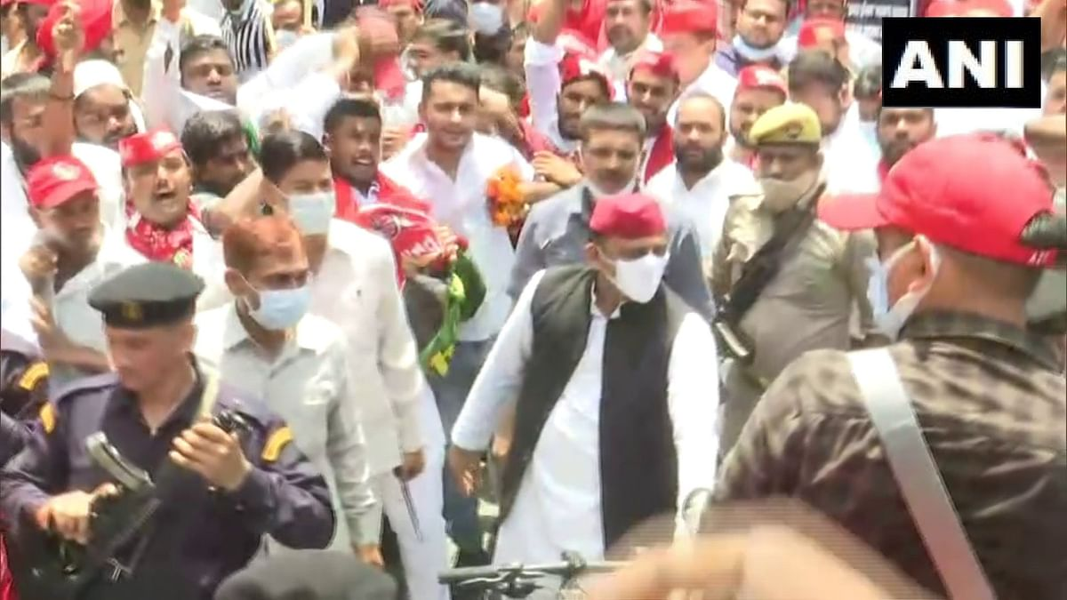 'We will win 400 seats': Samajwadi Party chief Akhilesh Yadav embarks on cycle yatra
