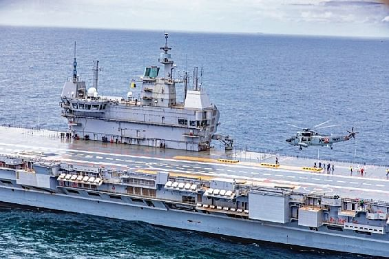 INS Vikrant, India's first indigenous aircraft carrier, begins sea trial