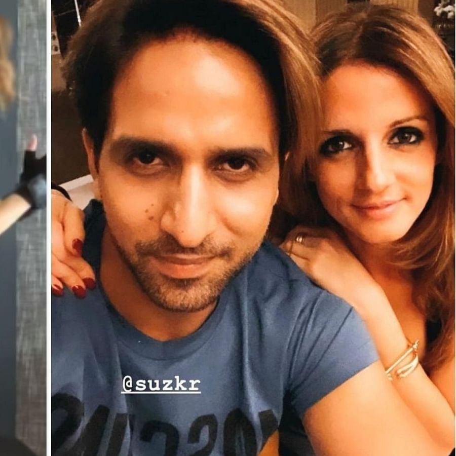 Sussanne Khan's new workout video leaves rumoured boyfriend Arslan Goni impressed; check out his reaction