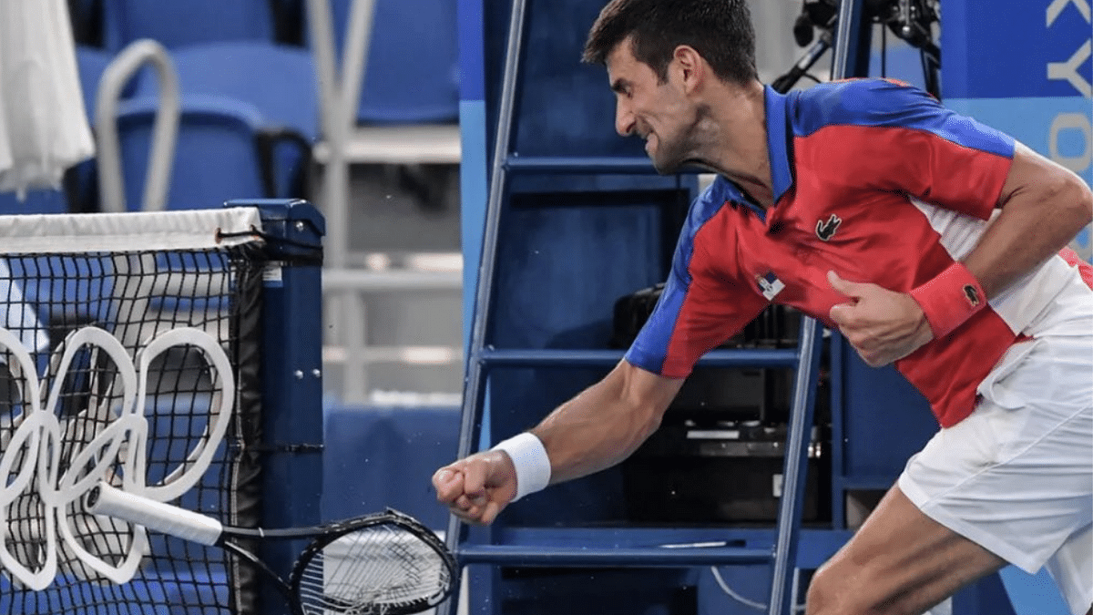 'When racism, sexism, and hypocrisy meet': Djokovic slammed for smashing rackets; compared with Simone Biles, Serena Williams