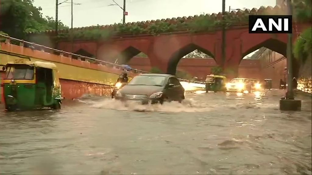 Waterlogging reported from several areas after heavy rains lash parts of Delhi-NCR; see pictures