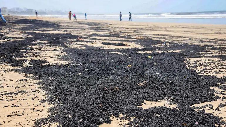 Oil spill at Mumbai's Juhu beach: BMC mops up 6MTs of waste