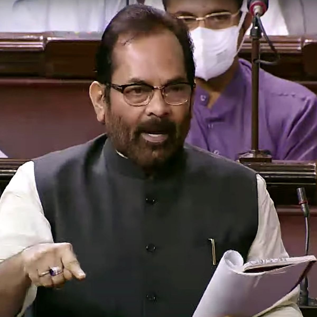 'Allergic to chaat-papri, he can have fish curry': Mukhtar Abbas Naqvi on Derek O'Brien's comment about Centre passing bills