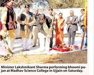 Bhoomi pujan for Madhav Science College multipurpose building performed