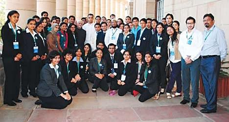 Milind Deora leads Mumbai's youth to Delhi on a Parliament Visit
