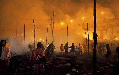 Fire breaks out at Kumbh