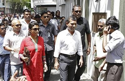 Mohamed Nasheed leaves Indian Mission in Male on 11th day of his stay