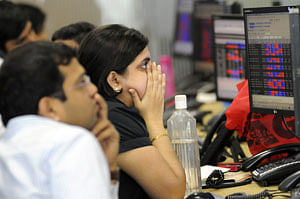 Sensex in the red after hitting 47,000; Nifty below 13,750