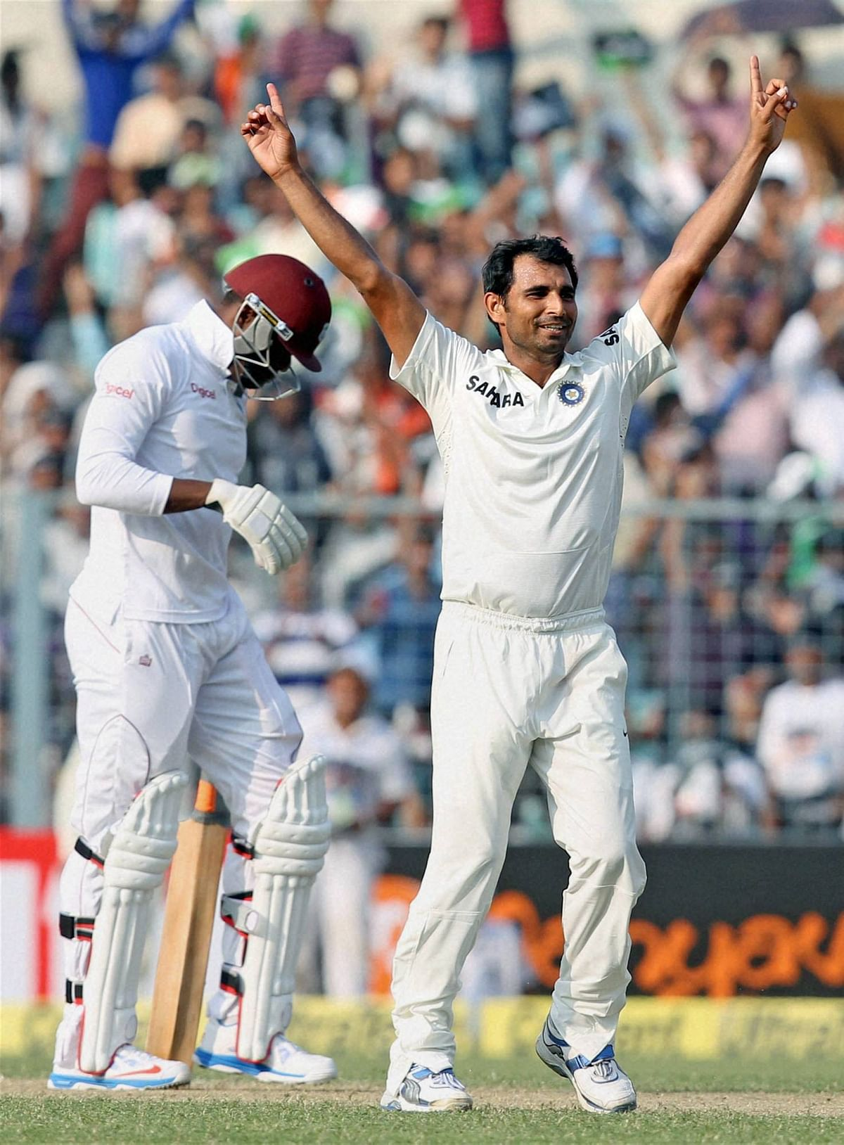 West Indies 319 for 6 at tea on final day