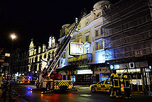 London theatre ceiling collapse under investigation