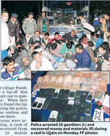 26 gamblers arrested; Rs 1.06 lakh recovered