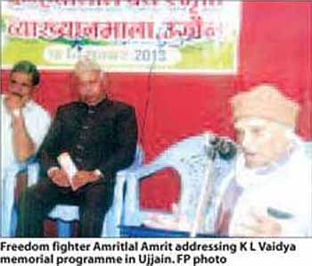 Vaidya remembered on his death anniversary