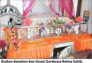 Theft in Gurdwara Betma Sahib