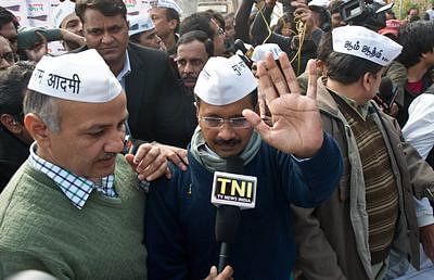 BJP slams Kejriwal for taking Congress' support to form govt