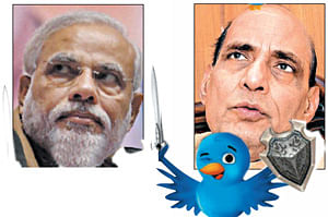 Modi twist to Rajnath tweet