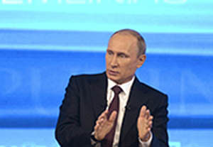 Snooping: Putin taken aback by Snowden poser on live TV