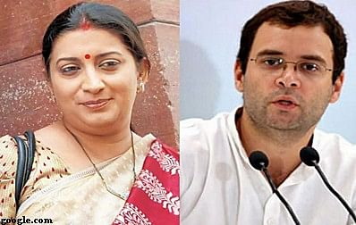 Smriti Irani lashes out at Rahul Gandhi