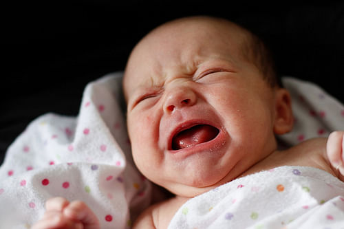 Newborn cry at night to keep parents away from sex!