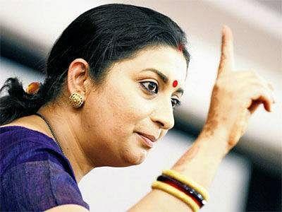 Smriti gets HRD ministry