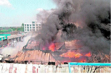 Factory on Sanver road caught fire