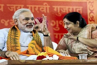 Swaraj meets Modi