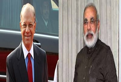 Mauritian PM meets Modi at Hyderabad House