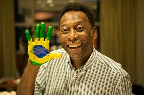 Pele backs Brazil to rise above all problems and put on `fantastic` World Cup show