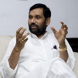 Ram Vilas Pasawan files papers for Rajya Sabha by-election