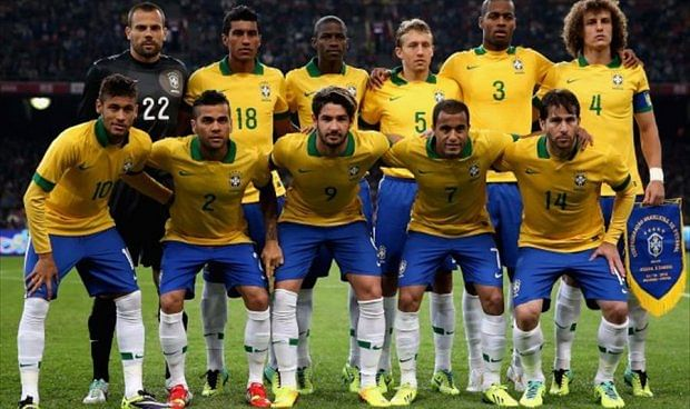 Brazilian team arrives at World Cup camp