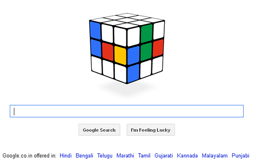 Google celebrates Rubik's Cube