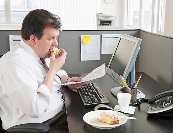 People in desk jobs gain weight for sure