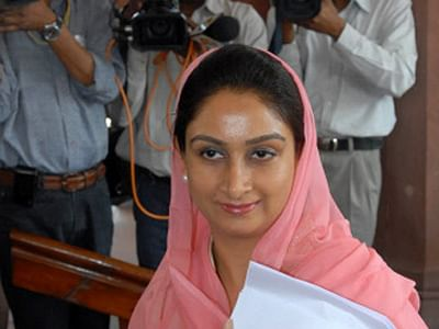 Harsimrat Kaur takes charge as Minister for Food Processing Industries