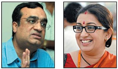 Cong, BJP spat over Irani's qualification